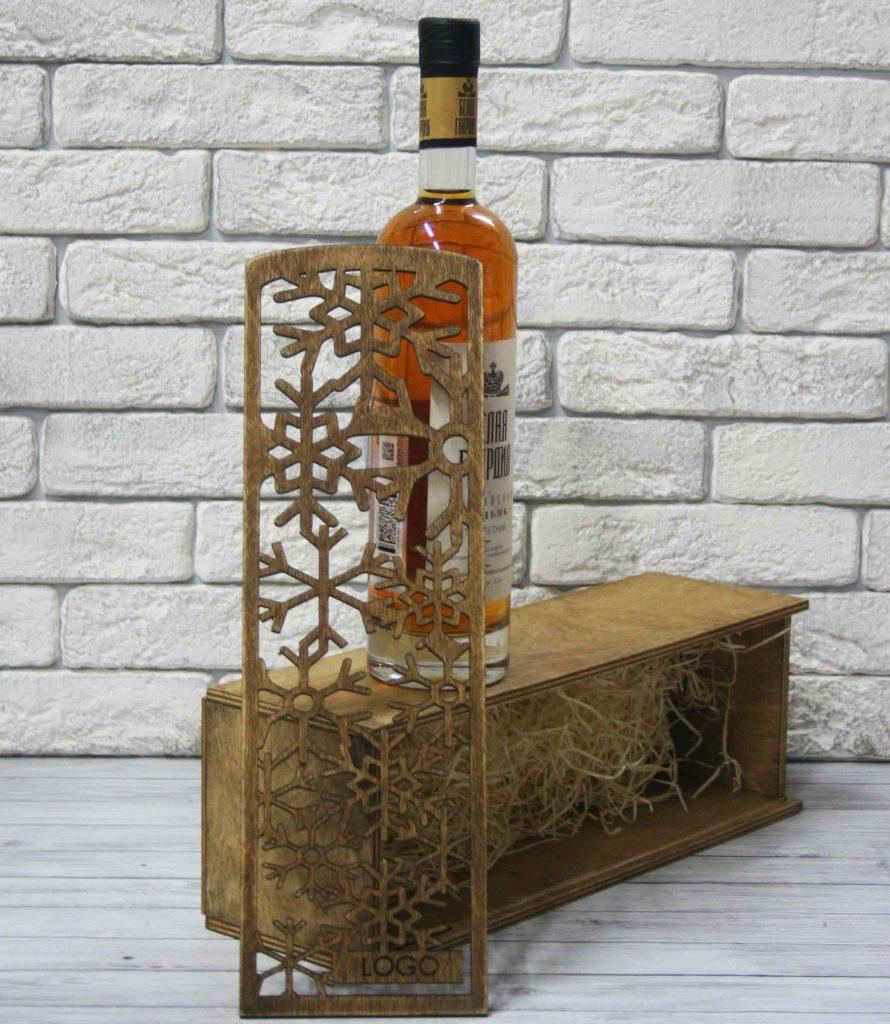 Деревянная упаковка под алкоголь