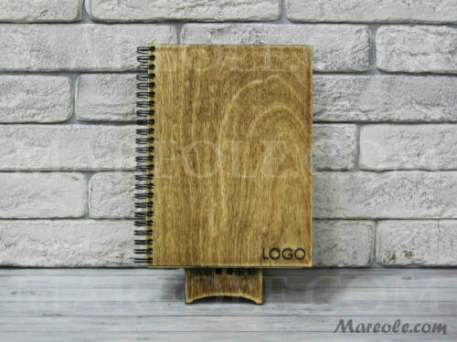 Деревянный блокнот с логотипом