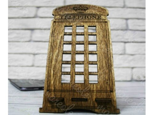 деревянная подставка под телефон