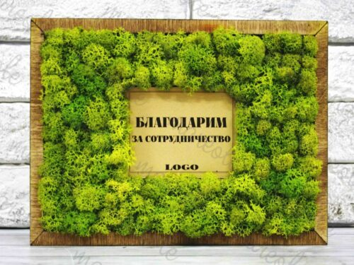 деревянная открытка Эко-сертификат