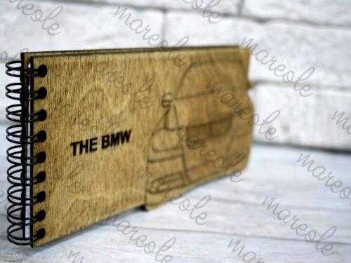 Деревянный блокнот с гравировкой