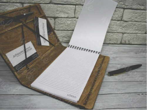 блокнот органайзер с обложкой из дерева