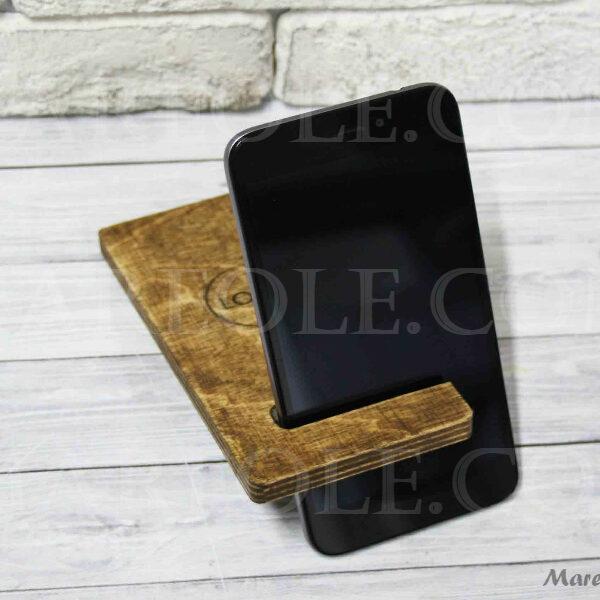 Деревянная подставка под телефон 163х70×10