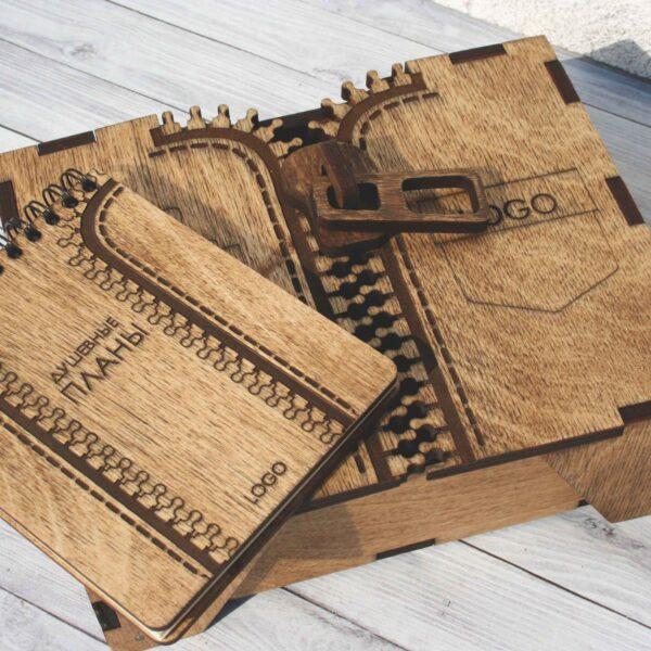 Подарочный набор в деревянной коробке «Под робой мужика»