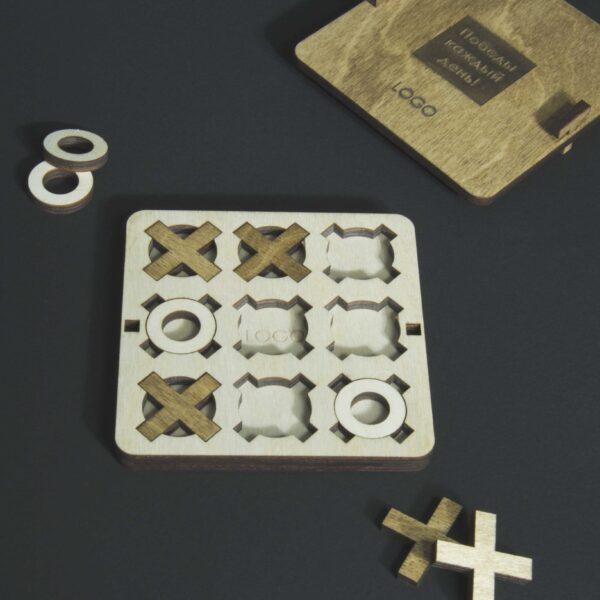 Крестики-нолики деревянные подарок на день строителя