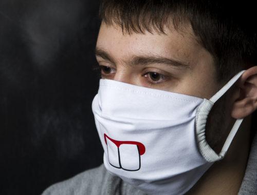 Маска на рот и нос ветрозащитная тканевая