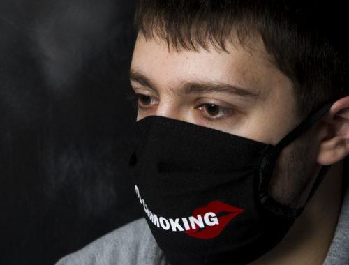 Маска на рот и нос ветрозащитная 3-слойная