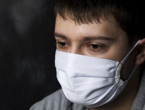 Маска защитная на рот и нос тканевая медицинская на нижнюю часть лица