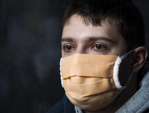 Маски четырехслойные пылезащитные тканевые на рот и нос